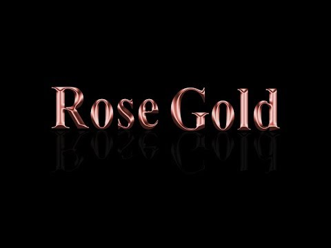 ROSE GOLD TEXT (PHOTOSHOP TUTORIAL)