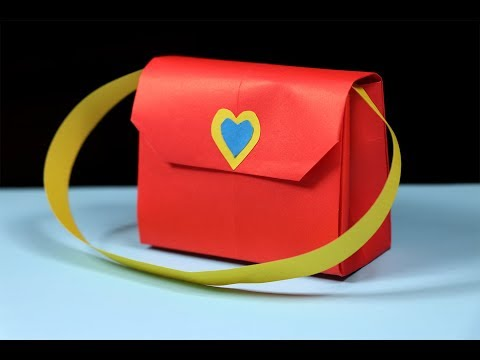 How to make a paper handbag - Easy origami handbag tutorial