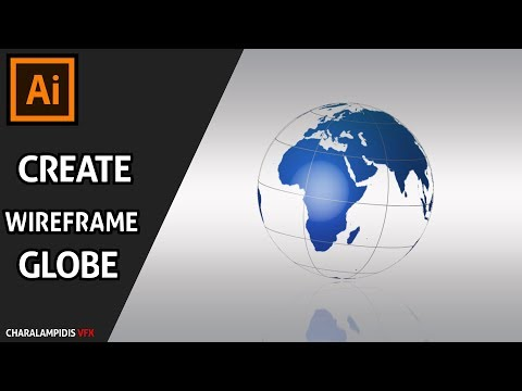 Illustrator Tutorial:Create a Wireframe Globe