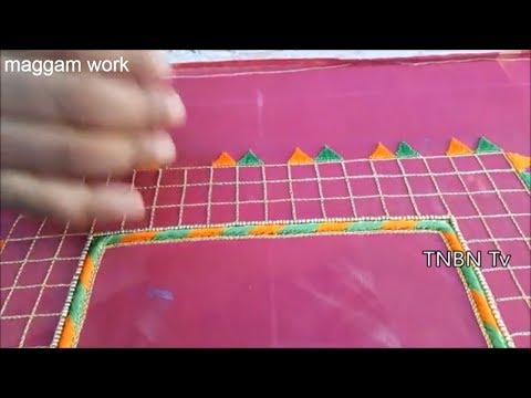 simple maggam work blouse designs | hand embroidery stitches flowers | basic embroidery stitches