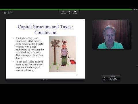 The Capital Structure Decision and Taxes, James Tompkins