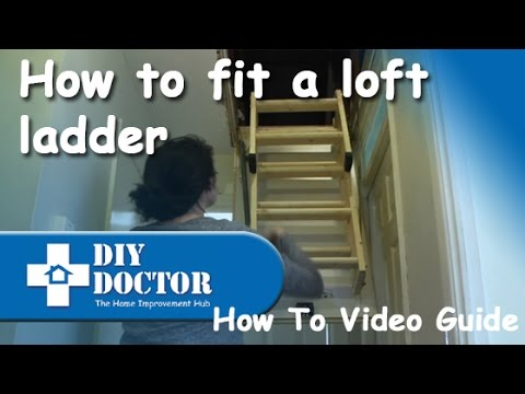 Fitting or installing a loft ladder
