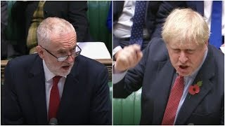 Live: Boris Johnson goes to head-to-head with Jeremy Corbyn in pre-election PMQs | ITV News