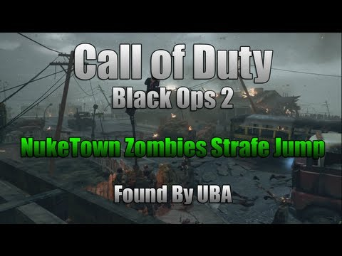 Black Ops 2 NukeTown Zombies Strafe Jump