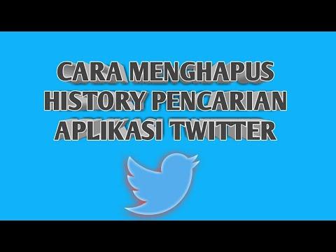 Cara Mudah Menghapus History Pencarian Di Aplikasi Twitter