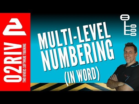 How To Create Multilevel Numbering (That Works) In Word