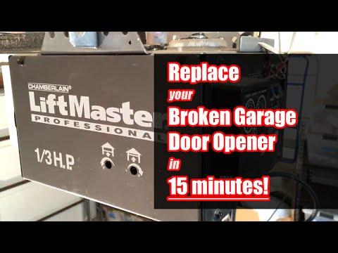 How to Replace Garage Door Opener in 15 Minutes!
