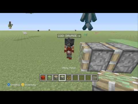Minecraft Xbox 360 Tutorial: How to make a Moving Plane, Car, and Tractor