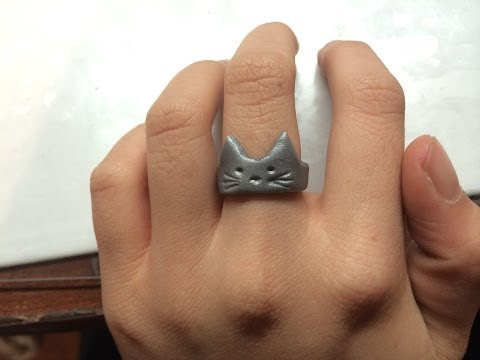 CUTE CAT RING TUTORIAL! (Polymer Clay)