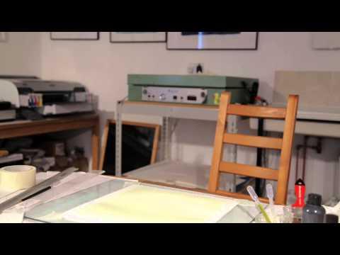 Bucks Open Studios Bob Marshall Van Dyke print time lapse