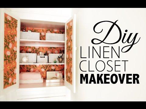 DIY Linen Closet Makeover & Organization  |  Home Decor