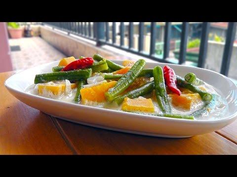 Filipino Squash in Coconut Milk - Vegan Vegetarian Recipe