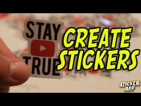 Create Your Own Stickers! (Custom Sticker Builder)  @StickerApp