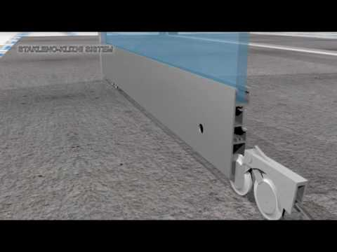3D video animation/ glass sliding door system/ DIY