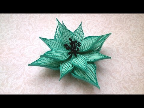 Beautiful Quilling Flower using Comb and Quilling Paper