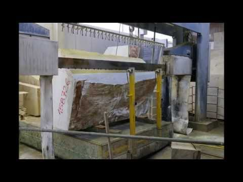 Cutting a Carrara Marble block from Savema - Time-lapse