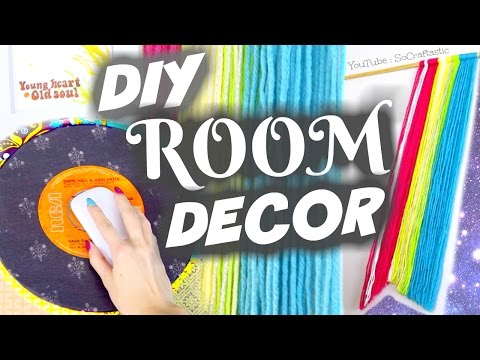 DIY VINTAGE ROOM DECOR IDEAS - Wall Art & Mouse Pad | SoCraftastic