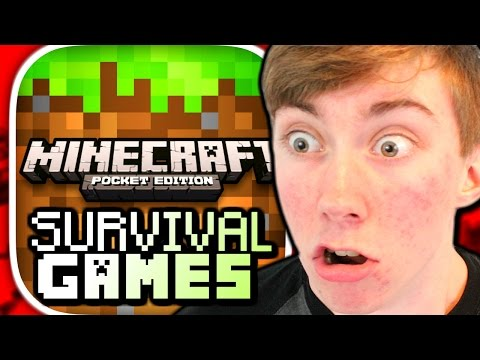 MINECRAFT: POCKET EDITION - SURVIVAL GAMES FAIL (iPhone Gameplay Video)