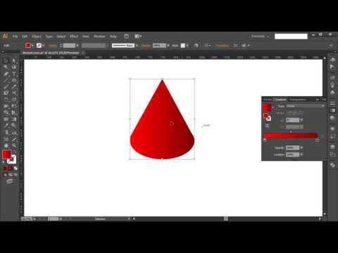 How to draw ISOMETRIC CONE in Adobe Illustrator - Tutorial #10