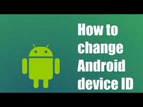 How to change android device id