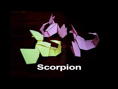 Origami SCORPION - Origami easy tutorial