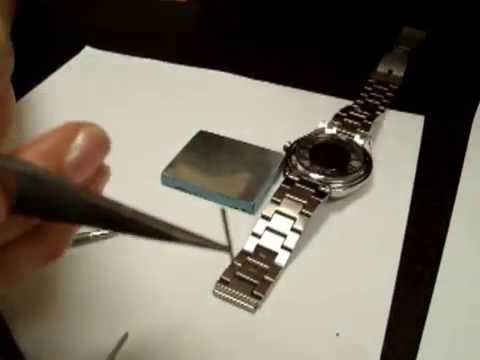 How to adjust watch links for a watch and measure wrist