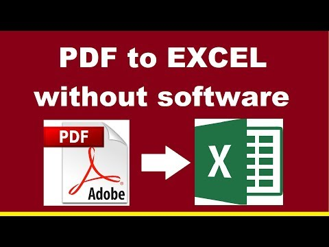 How to Convert PDF to Excel Spreadsheet Online Without Software - Make Money Easily