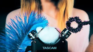 ASMR UNIQUE TASCAM TRIGGERS for intense tingles, relaxation and sleep (no talking)