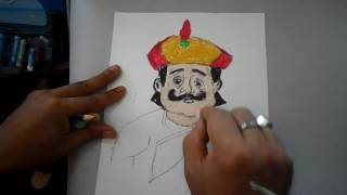 Gopal Bhar Drawing Of Krisno Chandro