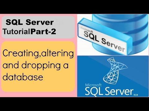 Sql Server Tutorial:Create ,Alter and Drop a database Part-2