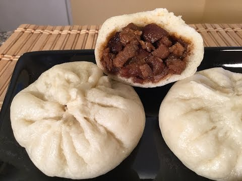 How To Make Chinese BBQ Pork Buns-Char Siu Bao-Dim Sum Recipes-Food Cuisine