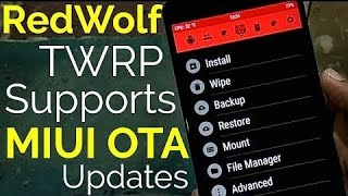Flash Red Wolf TWRP Custom Recovery | OTA Update Support
