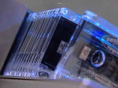 Audio Cassette music tapes being manufactured in India: archival