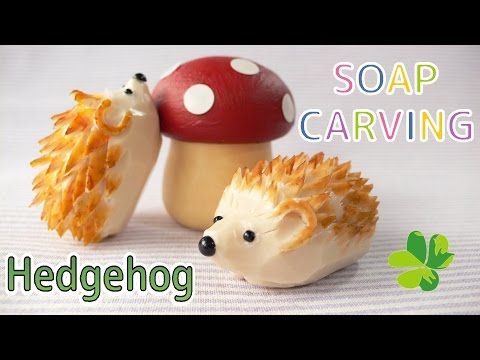 SOAP CARVING | Easy | Hedgehog | How to make |