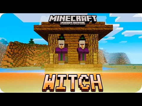 Minecraft PE Seeds - Witch Hut and Village at Spawn Seed! MCPE 1.2 / 1.1
