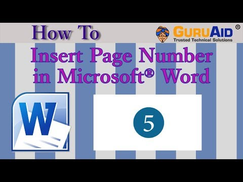 How to Insert Page Number in Microsoft® Word - GuruAid