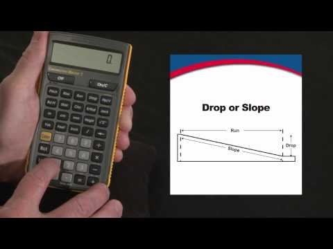 Construction Master 5 Drop or Slope Calculations How To