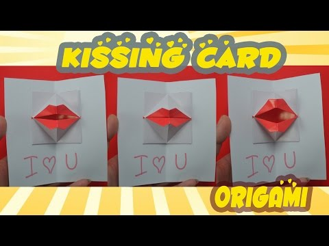 DIY Origami kissing lips ♥ Secret Message ♥ Pop up Kiss ♥