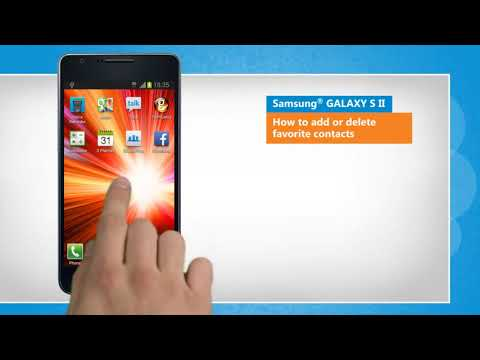 How to Add or Delete Favorite Contacts on Samsung® GALAXY S II