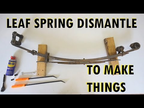 How to dismantle leaf springs for knifemaking
