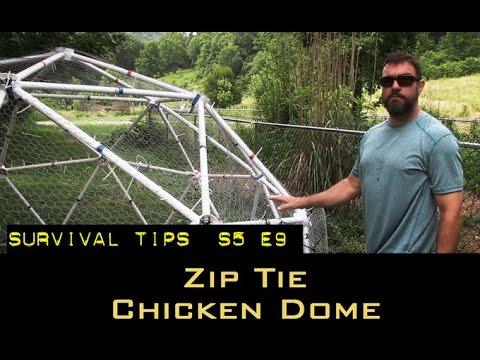 Geodesic Zip Tie Chicken Dome