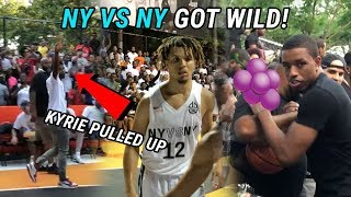 Kyrie Irving & Tekashi Watch Cole Anthony SHOW OUT At Rucker Park! Isaiah Washington Back In Harlem!