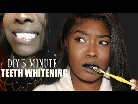 5 MINUTE TEETH WHITENING | DIY CHARCOAL TOOTHPASTE