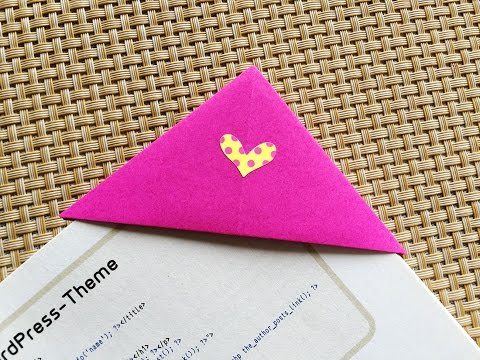 Easy Origami Bookmark