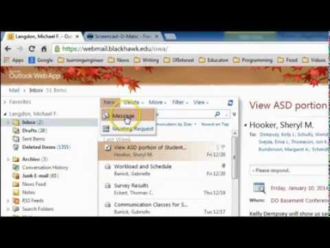 Writing an Email in Outlook Web App