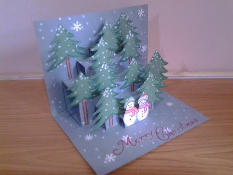 Easy and Simple Pop up Christmas Card