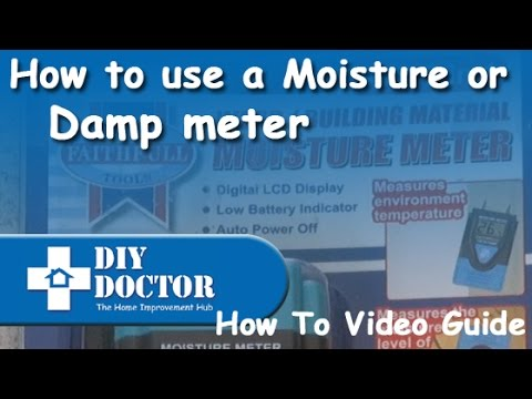 How to use a damp or moisture meter to detect damp in your walls