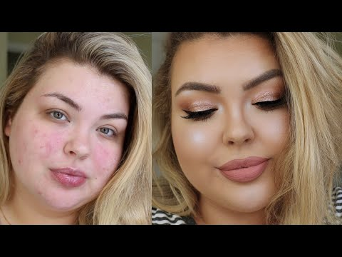 CHIT CHAT GRWM | Rose Gold Cut Crease + New Drugstore Foundation