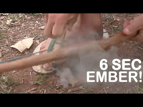 An Ember In Six Seconds! / Bow Drill Fire Starting / Primitive Survival / Bushcraft Skills
