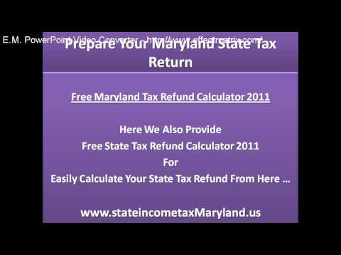Prepare Your Maryland State Tax Return and Get Biggest State Tax Refund Within 8 Days